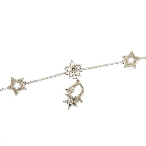 Vintage Dior Diamante Star Logo Necklace in Silver | NITRYL