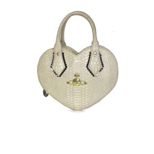 Vivienne Westwood Chancery Heart Bag in Cream | NITRYL