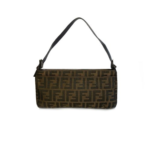 Vintage Fendi Zucca Monogram Baguette Shoulder Bag | NITRYL