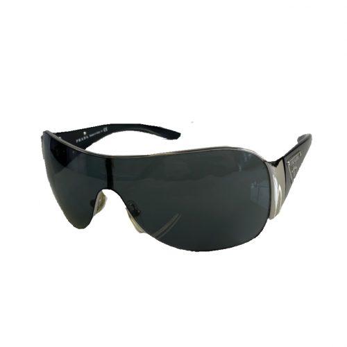 Vintage Prada Plaque Visor Sunglasses in Black | NITRYL