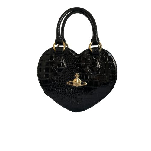 Vivienne Westwood Chancery Heart Bag in Black and Gold | NITRYL