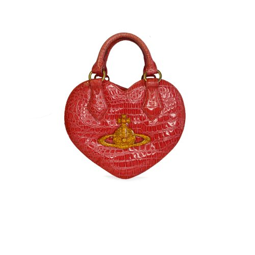 Vivienne Westwood Chancery Heart Bag in Pink and Gold | NITRYL