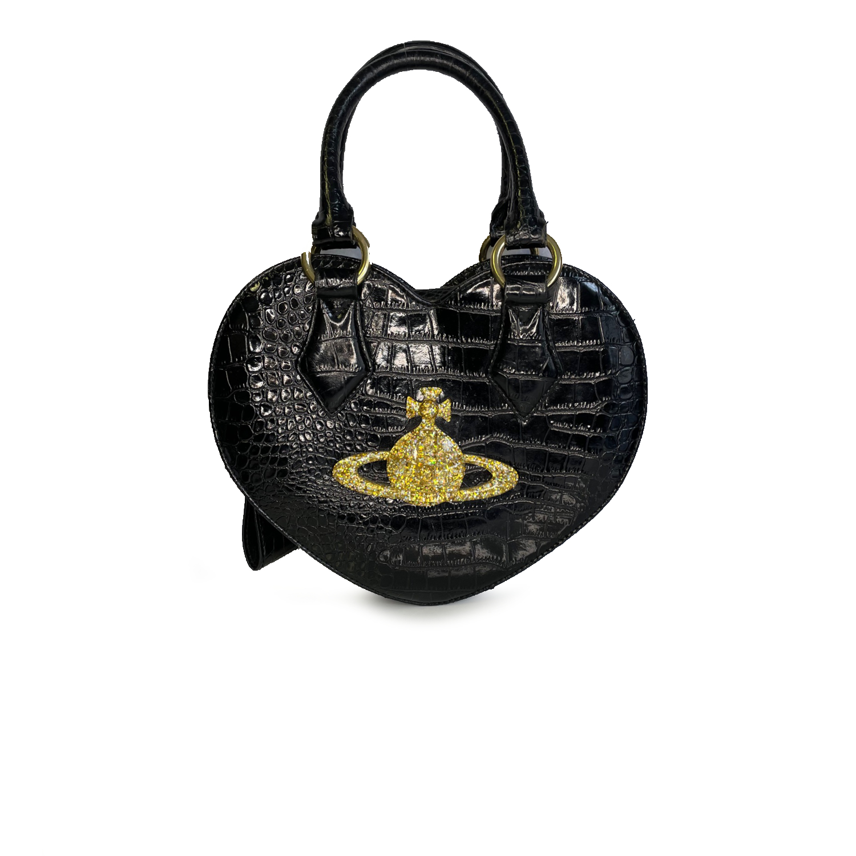 Vintage Vivienne Westwood Chancery Heart Bag in Black   NITRYL