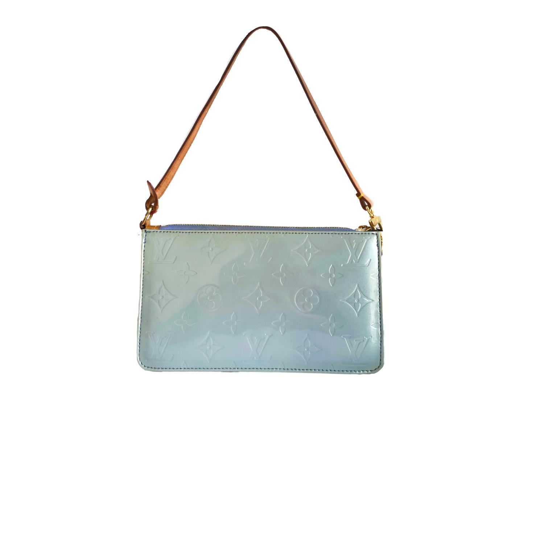 Louis Vuitton Vernis Lexington Pochette Mini Shoulder Bag in Baby Blue | NITRYL