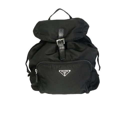 Vintage Prada Nylon Backpack in Black | NITRYL