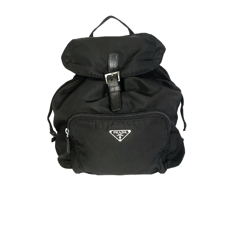 Vintage Prada Nylon Backpack in Black | NITRYL