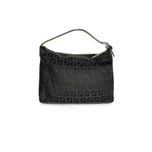 Vintage Fendi Zucchino Monogram Pochette Mini Bag in Black | NITRYL
