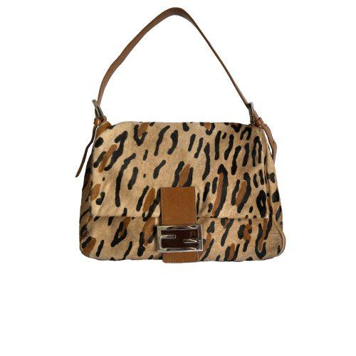 Vintage Fendi Leopard Ponyhair Mama Baguette Bag | NITRYL