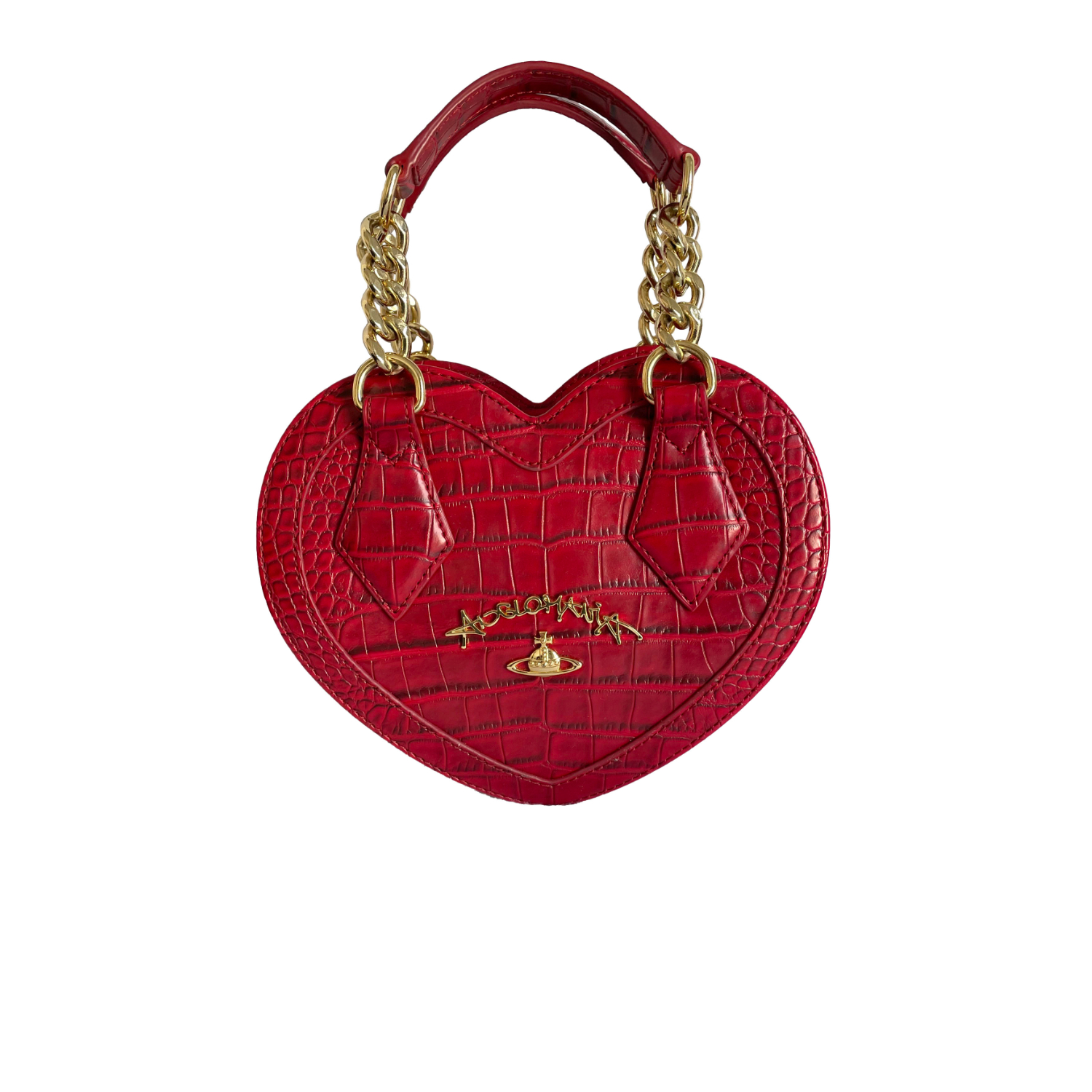 Vivienne Westwood Anglomania Heart Bag in Red   NITRYL