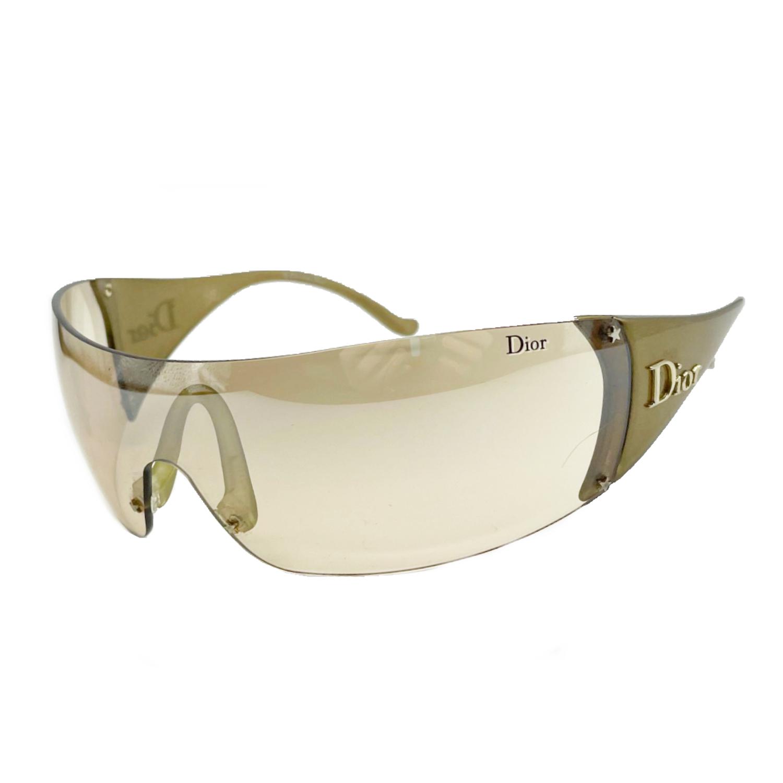 Vintage Dior Ski Visor Sunglasses in Bronze   NITRYL