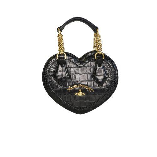 Vivienne Westwood Anglomania Heart Bag in. Black   NITRYL