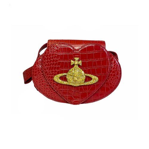 Vivienne Westwood Heart Crossbody Bag in Red   NITRYL