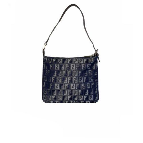 Vintage Fendi Zucchino Monogram Denim Shoulder Bag | NITRYL