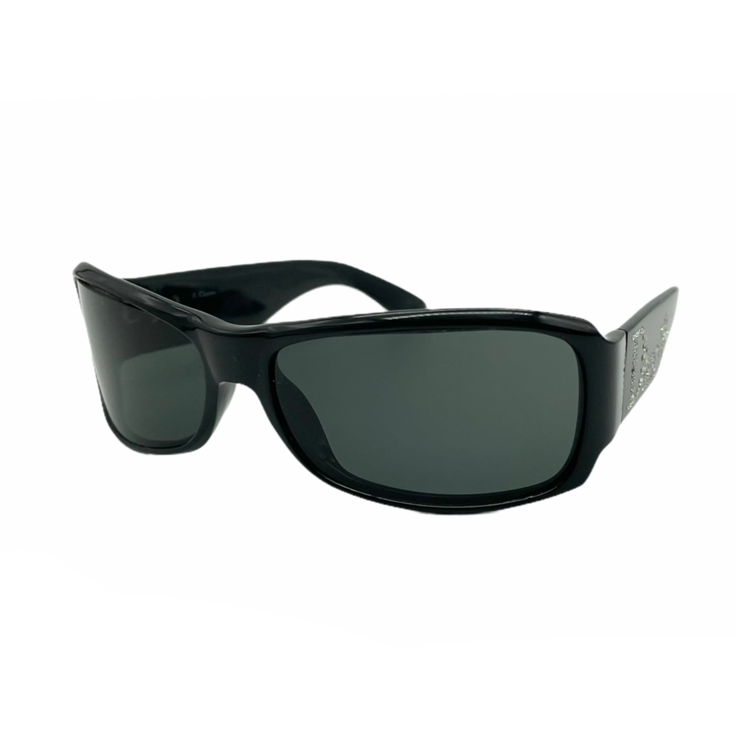 Vintage Dior Chunky Diamante Sunglasses in Black | NITRYL