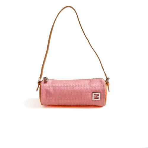 Fendi Zucchino Cylinder Baguette Bag in Pink   NITRYL