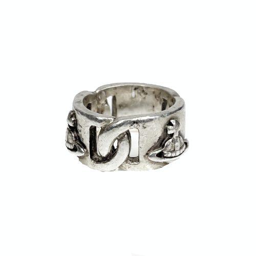 Vintage Vivienne Westwood Chain Orb Ring in Silver | NITRYL