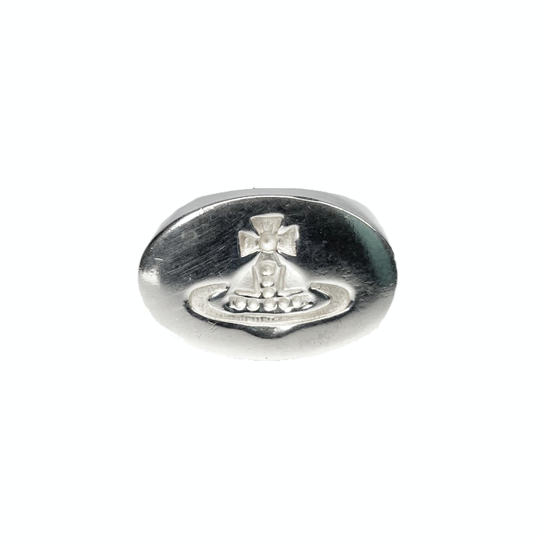 Vintage Vivienne Westwood Orb Signet Ring in Silver | NITRYL