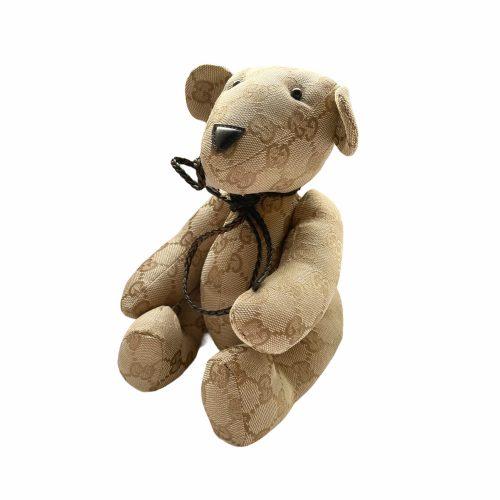 Vintage Gucci Monogram Teddy Bear in Beige | NITRYL