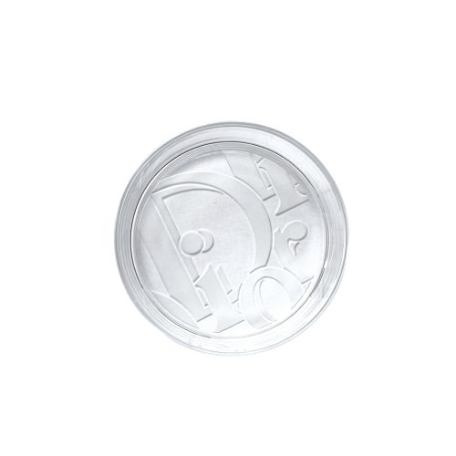 Vintage Dior Monogram Logo Glass Ashtray / Trinket Dish   NITRYL