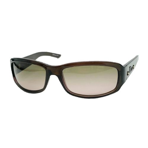 Vintage Dior Chunky Sunglasses in Brown | NITRYL