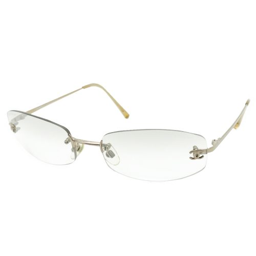 Vintage Chanel Rimless Sunglasses in Clear | NITRYL