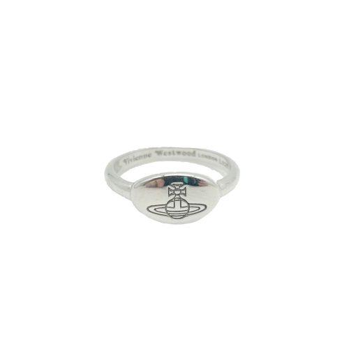 Vivienne Westwood Orb Mini Signet Ring in Silver | NITRYL