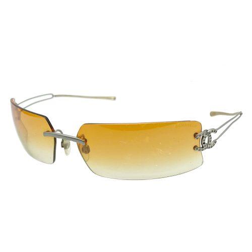 Vintage Chanel Diamante Ombre Tint Sunglasses in Orange | NITRYL
