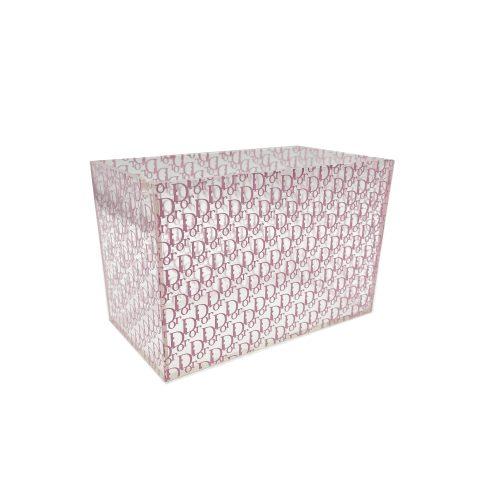 Vintage Dior Monogram Perspex Box in Pink | NITRYL