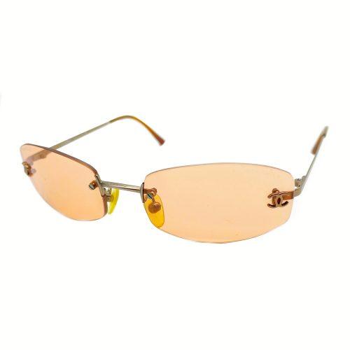 Vintage Chanel Rimless Tinted Sunglasses in Orange | NITRYL