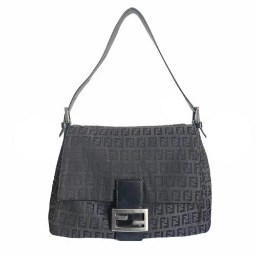 Vintage Vintage Fendi Monogram Mama Baguette Bag in Black | NITRYL