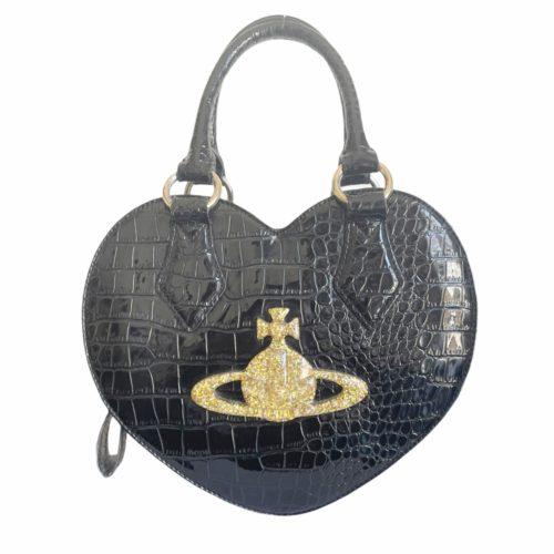 Vivienne Westwood Chancery Heart Bag in Black | NITRYL