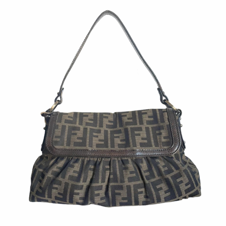 Vintage Fendi Zucca Monogram Shoulder Bag | NITRYL