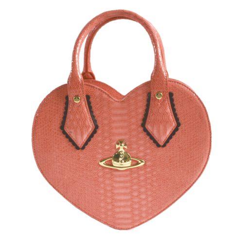 Vivienne Westwood Chancery Heart Bag in Coral Pink | NITRYL