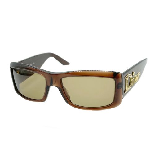 Vintage Dior Chunky Sunglasses in Brown/Gold | NITRYL