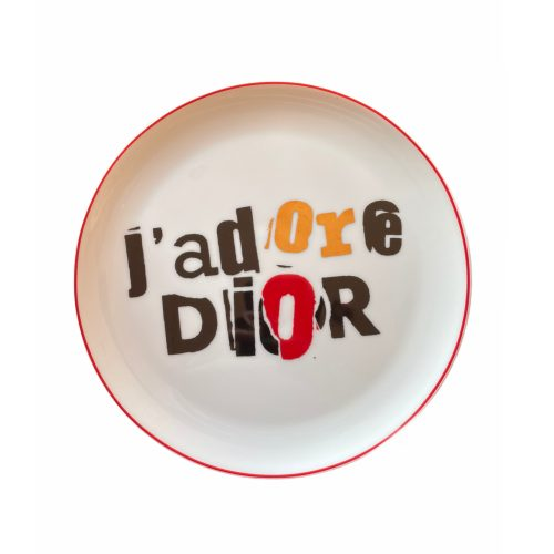 Vintage Dior 'J'adore' Logo Plate   NITRYL