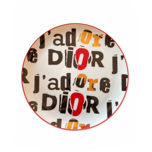 Vintage Dior 'J'adore' Monogram Plate   NITRYL