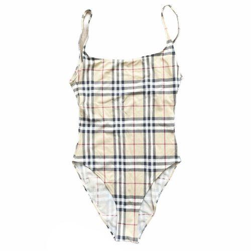Vintage Burberry Nova Check One Piece Swimsuit Size L | NITRYL