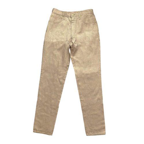Vintage Fendi Zucca Monogram High Rise Trousers in Metallic Pink W28 | NITRYL