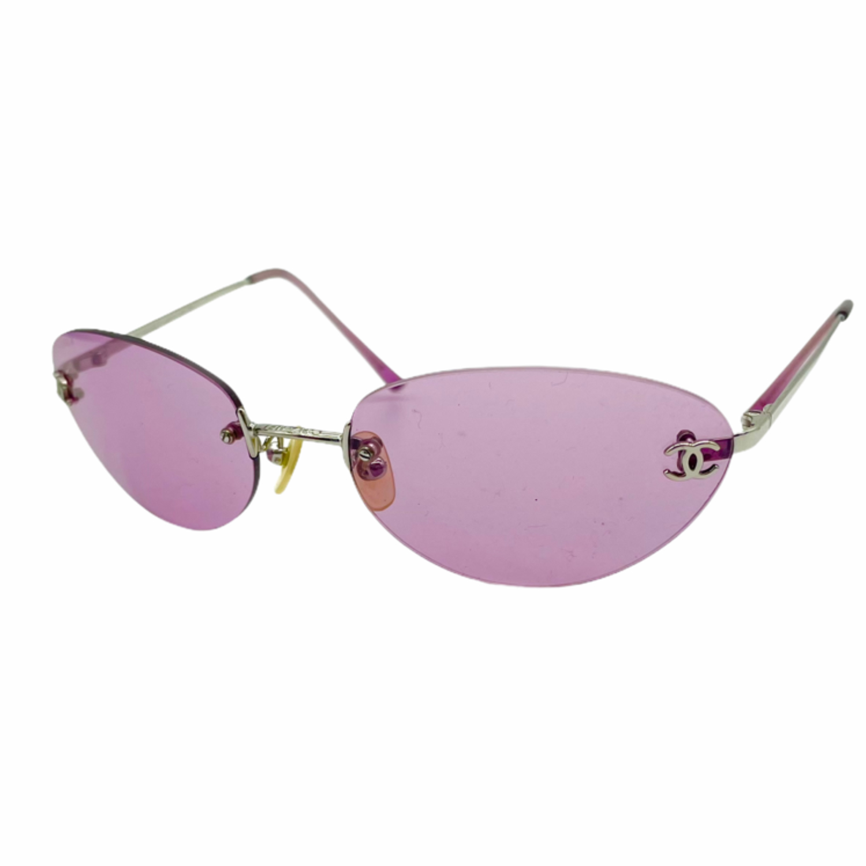 Vintage Chanel Rimless Tinted Sunglasses in Purple | NITRYL