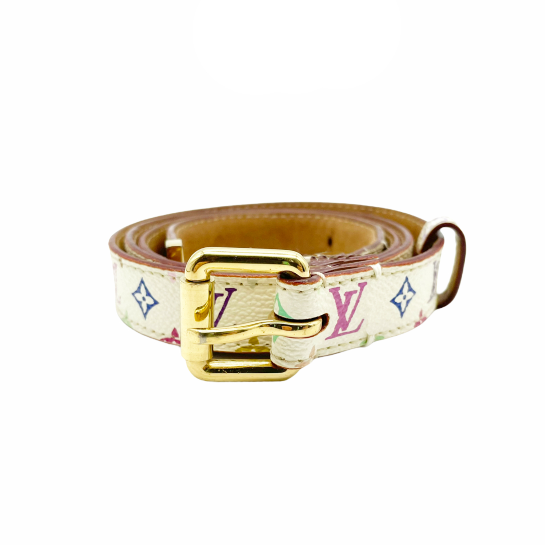 Vintage Louis Vuitton Monogram Mutlicolour Belt | NITRYL