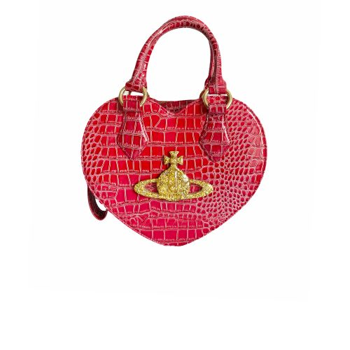 Vivienne Westwood Heart Chancery Bag in Hot Pink/Red | NITRYL