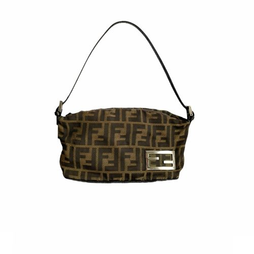 Vintage Fendi Zucca Monogram Mini Baguette Shoulder Bag | NITRYL