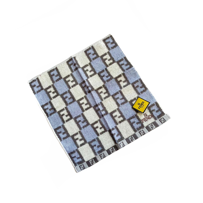 Vintage Fendi Zucca Monogram Mini Towel / Face Cloth   NITRYL