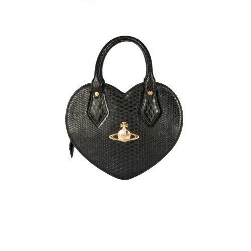Vivivenne Westwood Chancery Heart Bag in Black | NITRYL