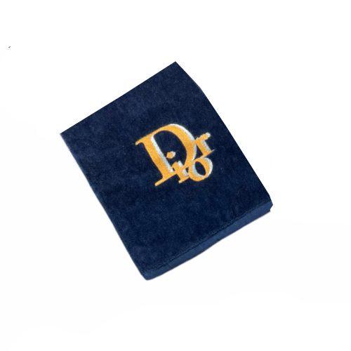 Vintage Dior Embroidered Towel in Blue   NITRYL