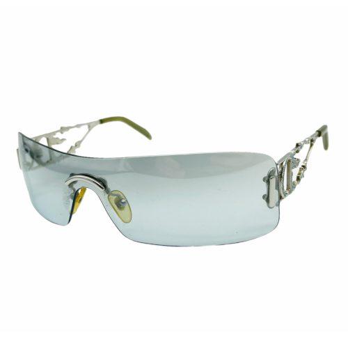 Vintage Dior Diamante Flame Rimless Sunglasses in Baby Blue   NITRYL