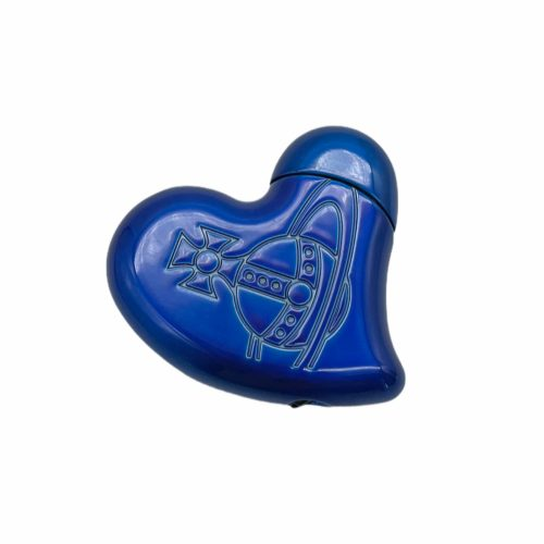 Vintage Vivienne Westwood Heart Orb Lighter in Blue | NITRYL