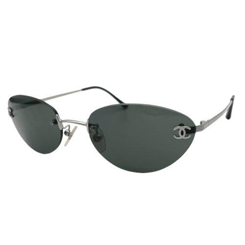 Vintage Chanel Rimless Sunglasses in Black   NITRYL