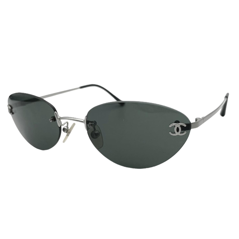 Vintage Chanel Rimless Sunglasses in Black | NITRYL