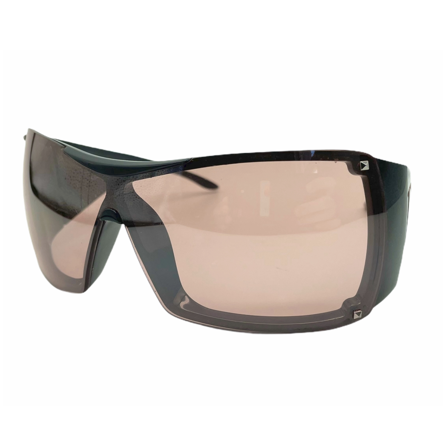 Vintage Dior Chunky Spellout Sunglasses in Black and Pink | NITRYL
